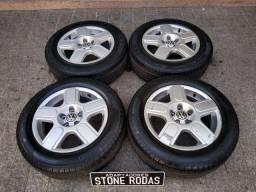 """Rodas CrossFox aro 15"""" 5x100 com pneus"""