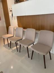 4 cadeiras estofadas Navarro, modelo Manaus