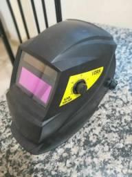 máscara de solda automática mais carregador bateria da máscara