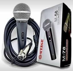 Microfone Profissional Com Fio M58 - Fazemos Entregas !!