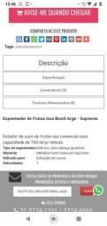 Título do anúncio: Espremedor de frutas Inox Arge bivolt-Supremix