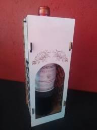 Caixa porta vinho mdf branco