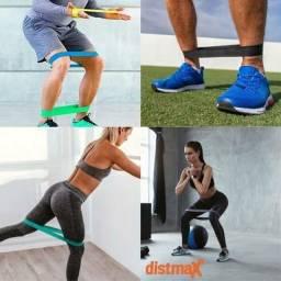 Mini Band Faixa Elástica para Exercícios Yoga Pilates