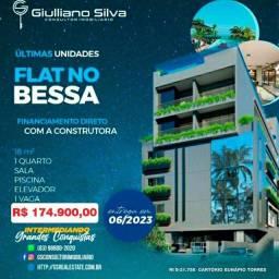 CÓD:FL0022 - Flat no Bessa, Financ. Direto Construtora, 17,70 M², á 50m do mar
