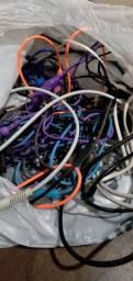 Sacola com fios (alguns não funcionam)