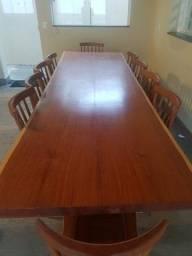 Título do anúncio: Mesa de madeira cabreúva 10 lugares