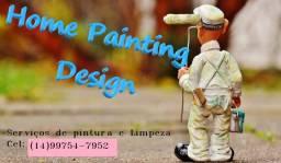 Serviços de pintura e limpeza (Home Painting Design )