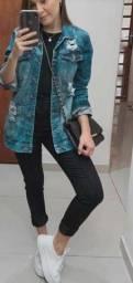 Jaqueta jeans feminina e masculina atacado