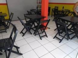 Vendo mesas e cadeiras dobráveis