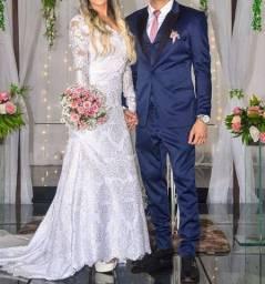 Título do anúncio: Vestido de noiva com renda