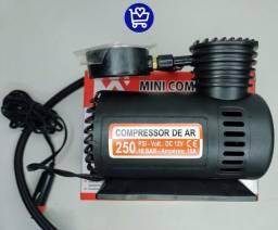 MINI COMPRESSOR DE AR 12V R$85,00(Entrega Gratis