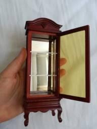mini cristaleira madeira casa de boneca pronta delprado