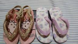 Chinelo Hello Kitty (nº 20/21) + Chinelo Pimpolho (nº 22)
