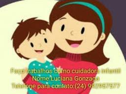 Título do anúncio: Cuidadora infantil