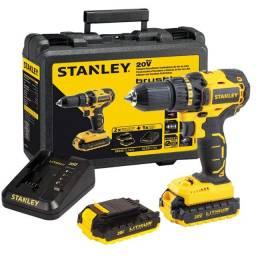 Parafusadeira Furadeira 2 Baterias Íons de Lítio Max 20V 1,5AH Brushless Stanley SBD20S2K