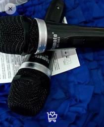 Microfone com fio - 2 microfones