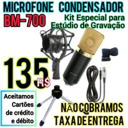 Título do anúncio: Ideal para Gravaçãos. Novo Microfone Condensador BM-700.  Entrega Gratis