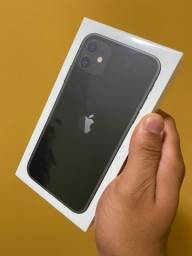 Título do anúncio: iPhone 11 preto lacrado - o melhor preço é aqui - até 18x