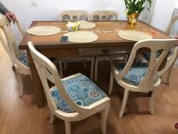 Cadeiras pintura em pátina