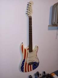 guitarra eagle stratocaster bandeira estados unidos rara