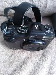Câmera fotográfica e filmadora, Canon G12 usada + Bolsa