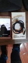 Samsung j7 neo com caixa e nota