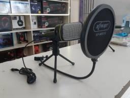 Microfone profissional de mesa com abafador de som da KNUP apenas 180 reais