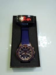 Relógios Quartzo Masculino Luminoso Novo