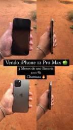 Título do anúncio: iPhone 12 Pro Max 128 Gb apenas 3 meses de uso