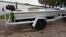 Barco lancha motor popa johnson reboque - 2000