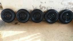 Jogo de rodas cm 5 rodas 13