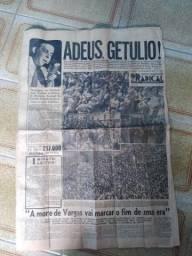 Jornal Histórico sobre a morte de Getulio Vargas