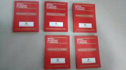 5 livros manual de pesquisas e estudos capa dura, 20,00 todos
