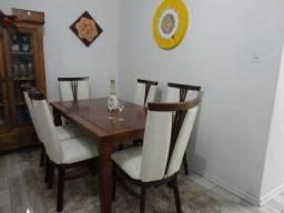 Conjnuto de mesa de jantar,mesa em madeira Rústica+ 6 cadeiras apoltronadas