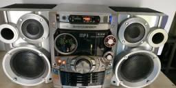 Aparelho de som com Bluetooth e USB