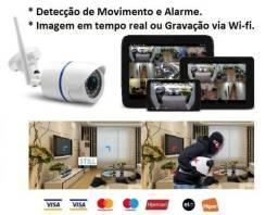 Câmera Wifi Visão Noturna, Prova D'água, Wi-fi, Andoird, Iphone