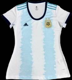 Camisa Feminina Argentina Home 2019/2020 Pronta Entrega