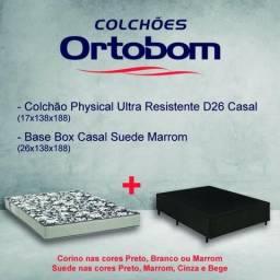 """Cama box base+colchão """"ortobom"""""""