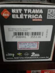 Kit trava elétrica celta EcoSport fiesta palio 4 portas nova na embalagem