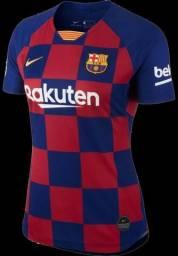 Camisa Feminina Barcelona 2018/2019 Pronta Entrega