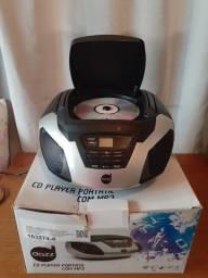 RÁDIO CD PLAYER PORTÁTIL COM MP3