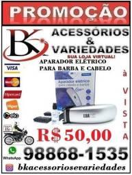 Aparador Elétrico para Cabelo e Barba -(Loja BK Acessórios e Variedades)-Promoção