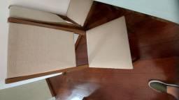 Conjunto de mesa com 6 cadeiras e tampo de vidro