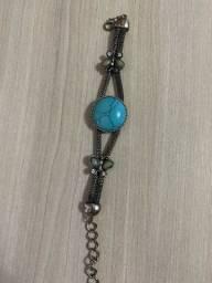 Pulseira turca pedra azul