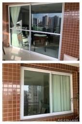 Porta e janela  esquadrias de aluminio com vidro