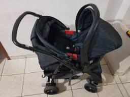 Carrinho de Bebê Burigotto AT6 + Bebê Conforto Super Conservado