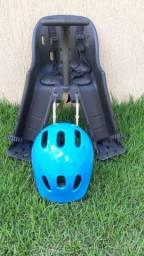 Cadeirinha Baby Bike - Preta + Capacete