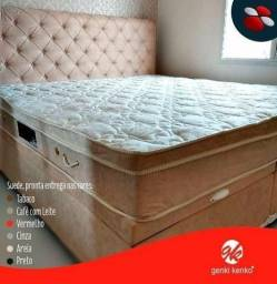 Título do anúncio: Cama box baú + colchão + cabeceira direto de fabrica /parcelas de:
