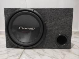 "Subwoofer 12"" Pioneer + Box + Módulo Roadstar V12 2000 watts"