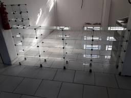 Balcao 2,40m vidro temperado